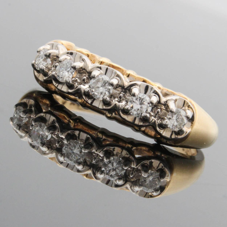 Truglo 14K Yellow Gold Diamond Ring