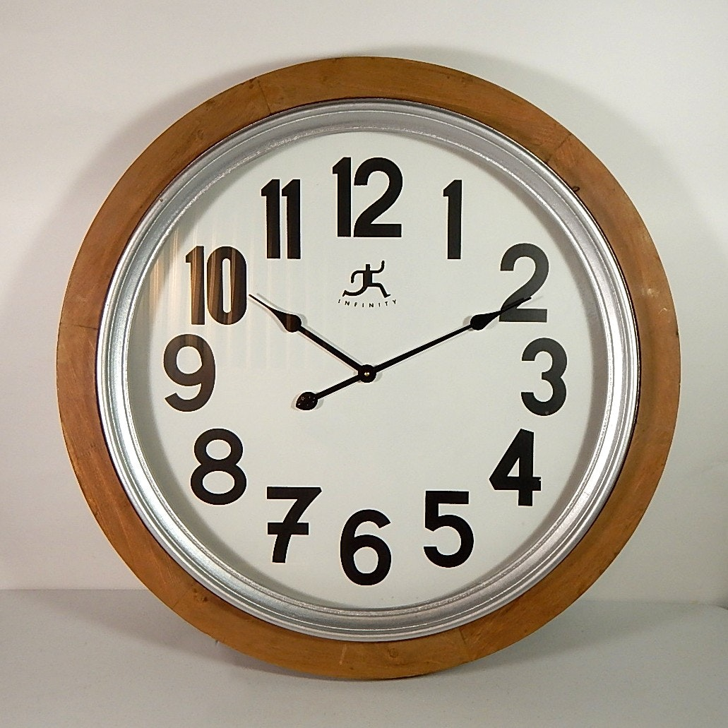 """Large 30"""" Decorative Wall Clock by Infinity"""