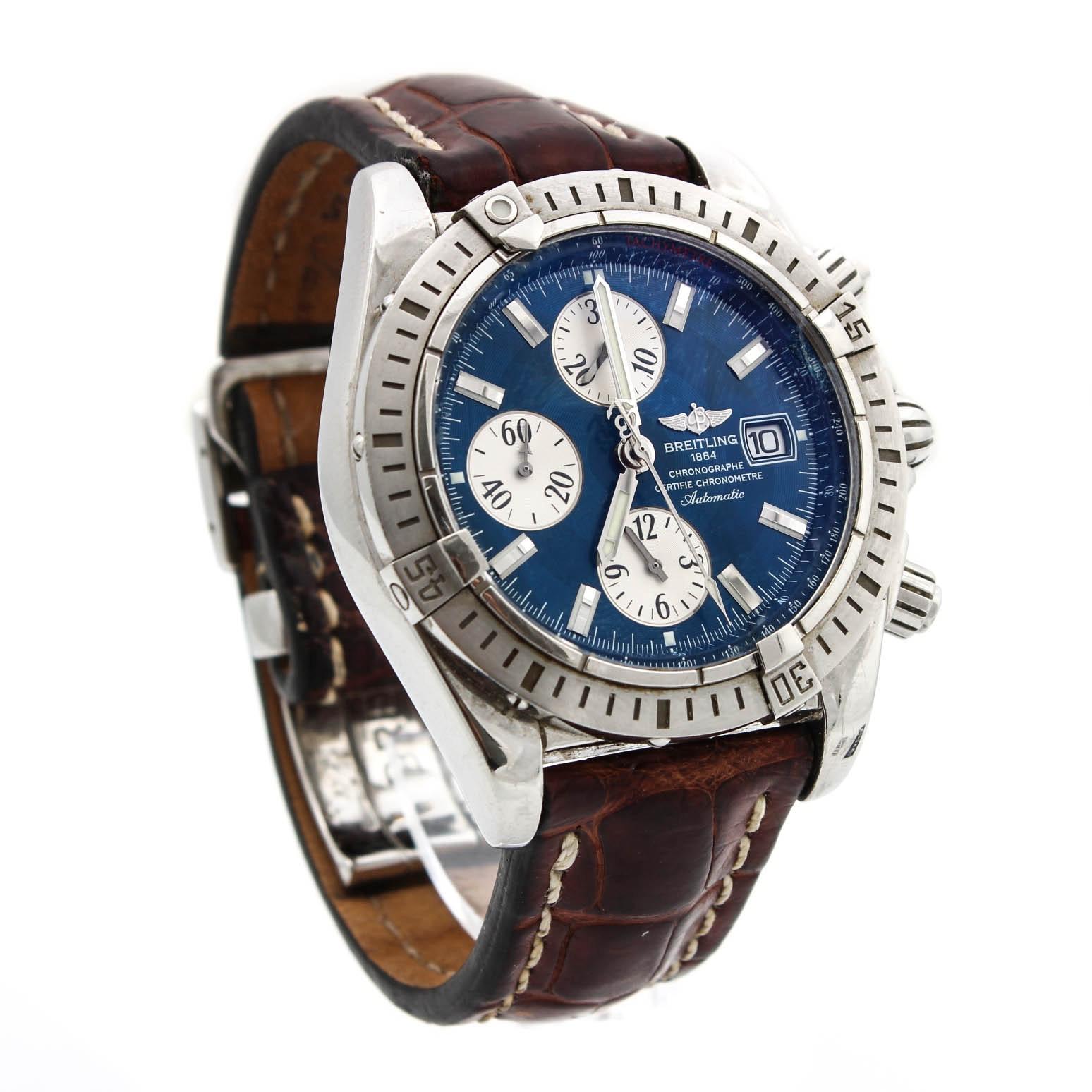 Breitling 1884 Chronographe Certifie Chronometre Automatic Wristwatch