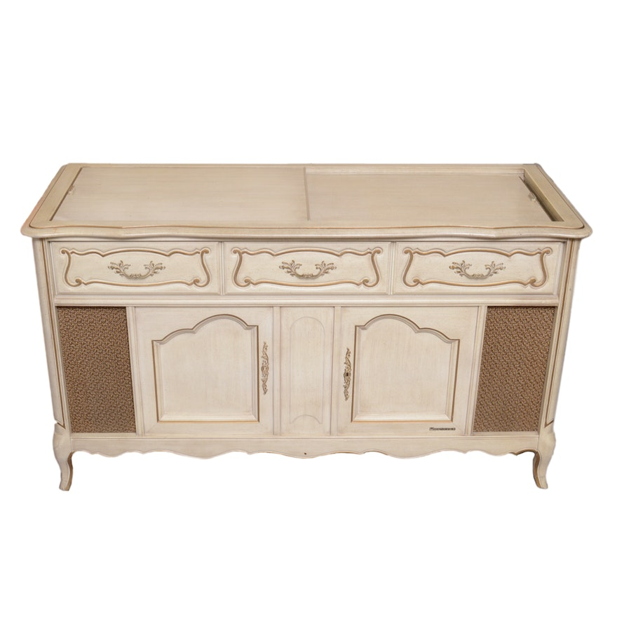 Vintage French Provincial Style Magnavox Stereo Console