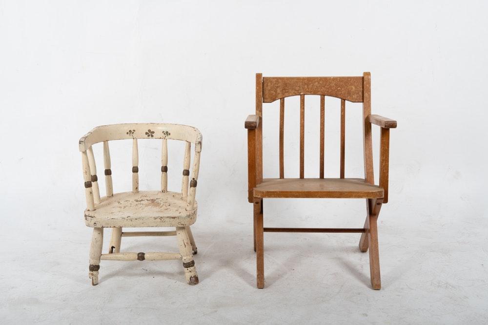 Vintage Childrens Chairs Including Posturbilt ...