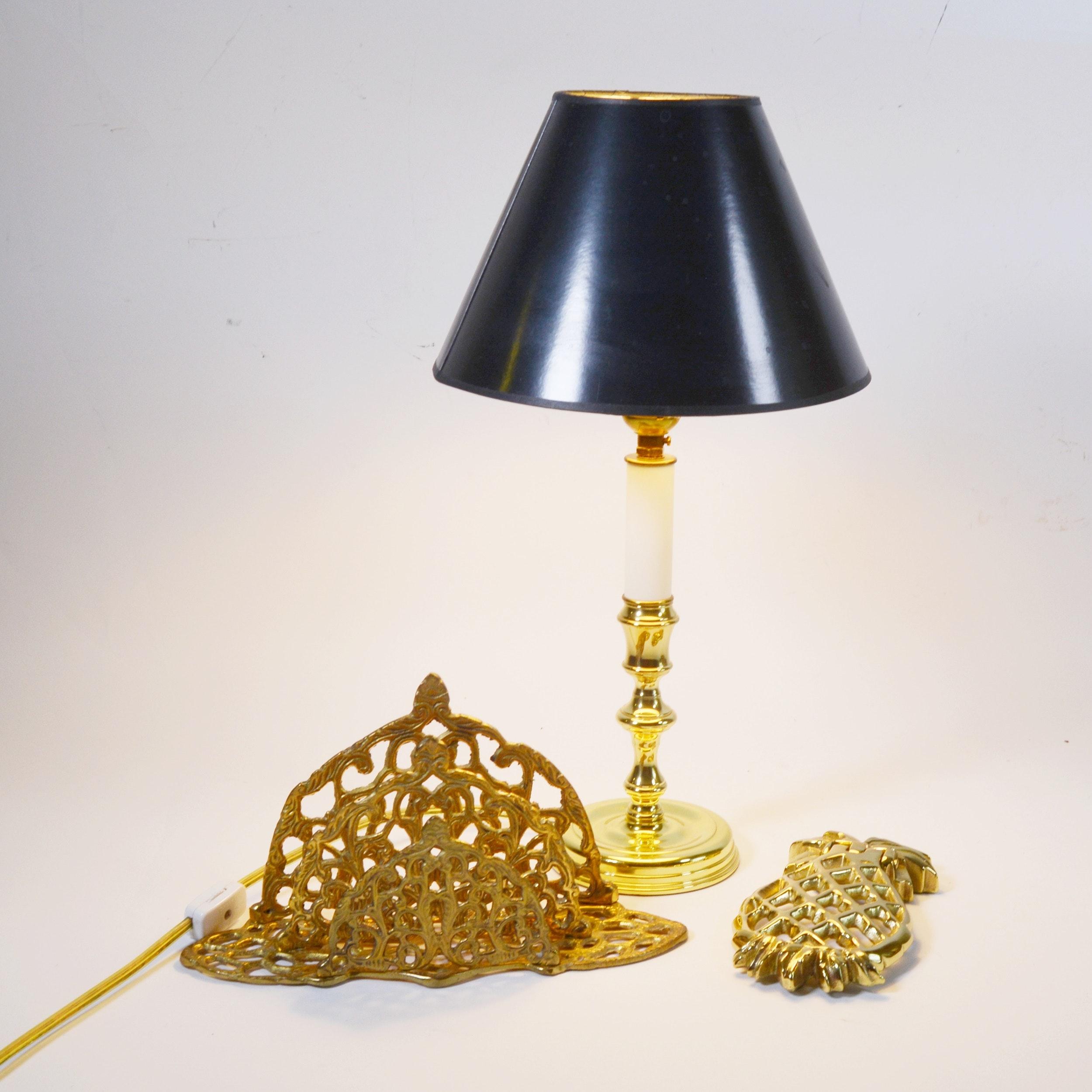 Baldwin Brass Table Lamp Door Knocker And Letter Holder Ebth