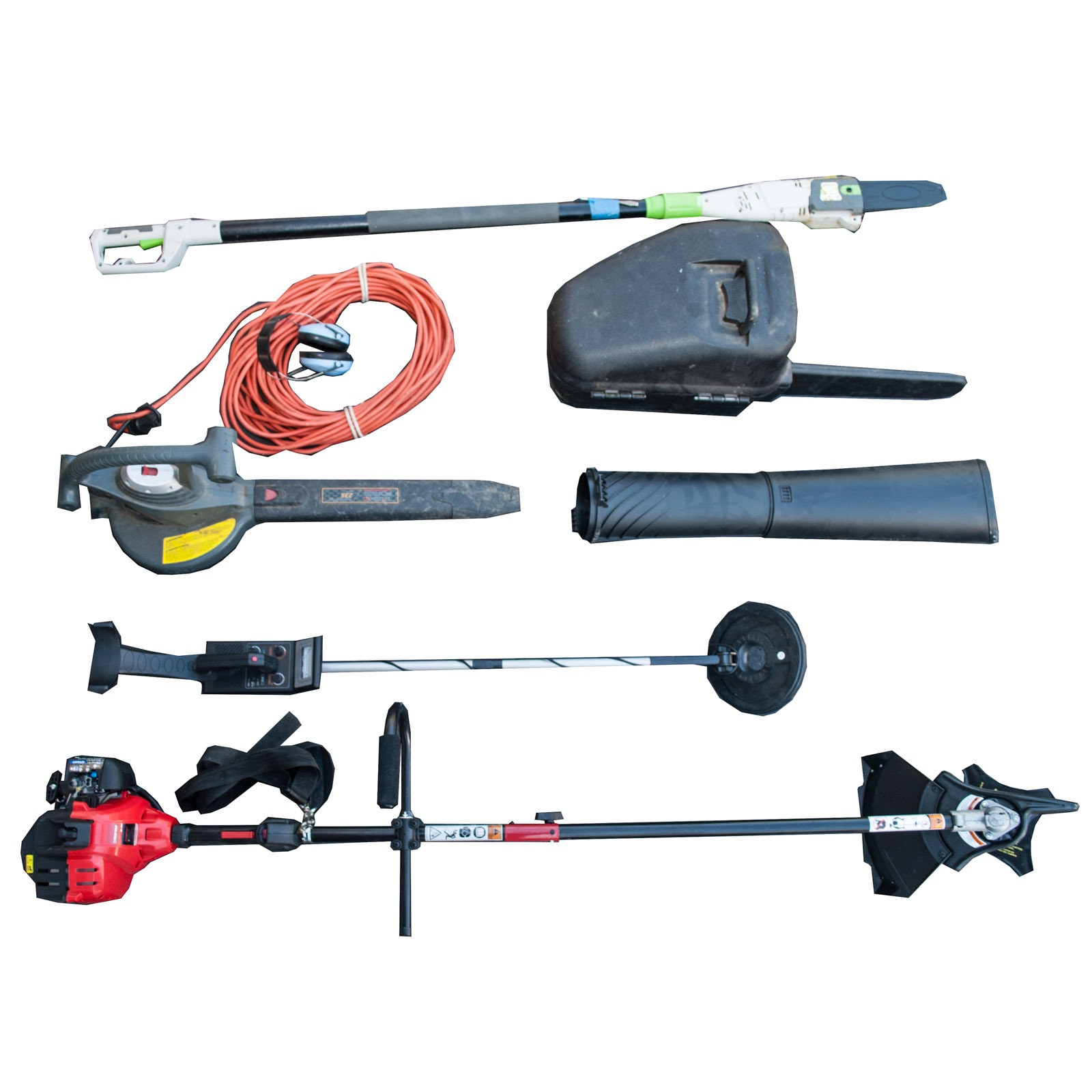 Assortment of Yard Power Tools and Metal Detector