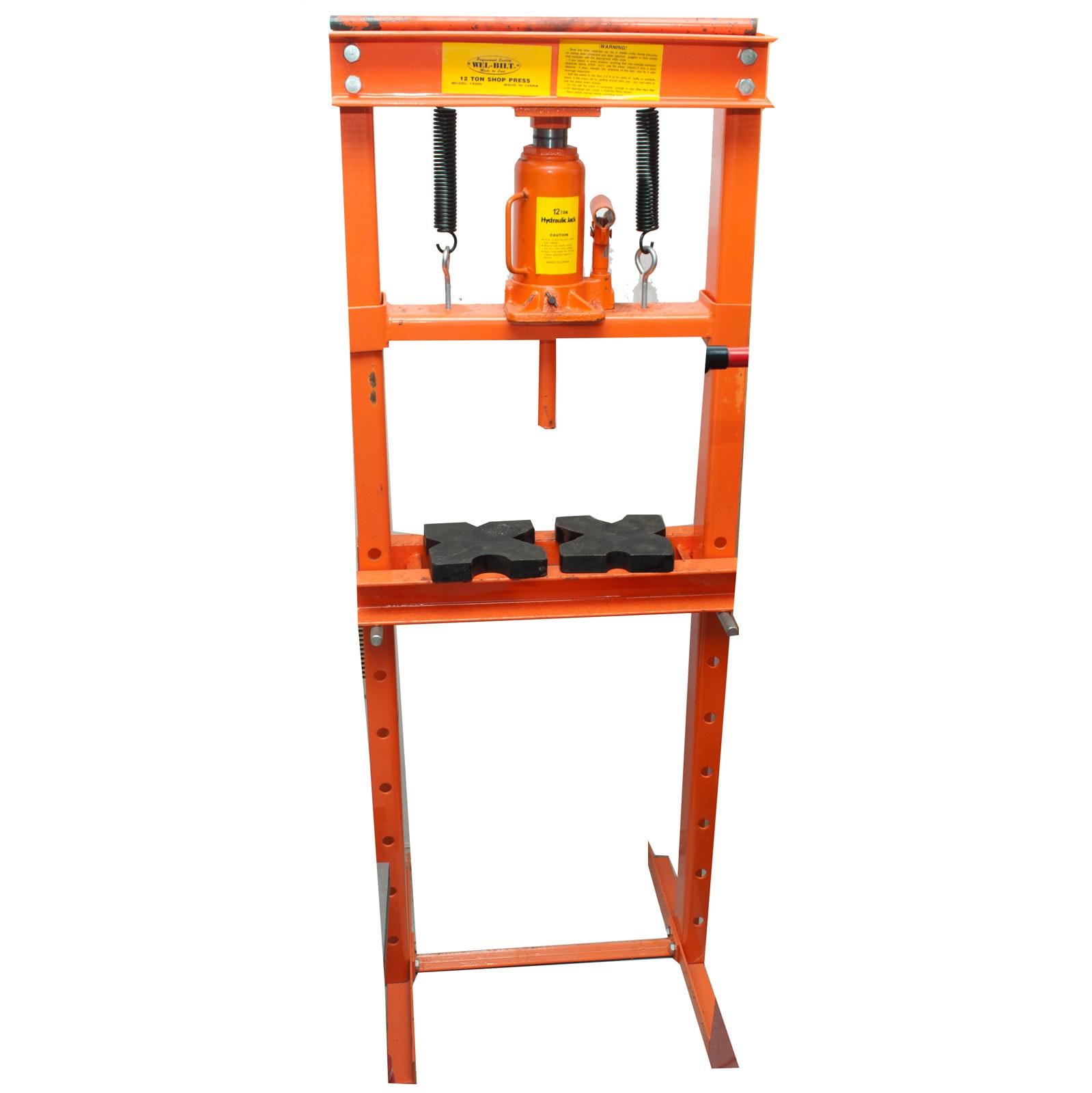 Wel-Bilt H-Style 12-Ton Shop Press