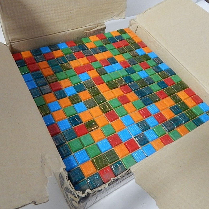 Box of Italian Glass Mosaic Tiles : EBTH