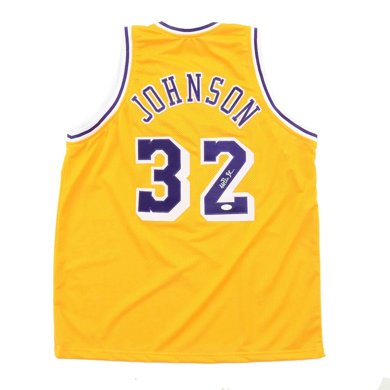 Magic Johnson Signed Jersey  COA