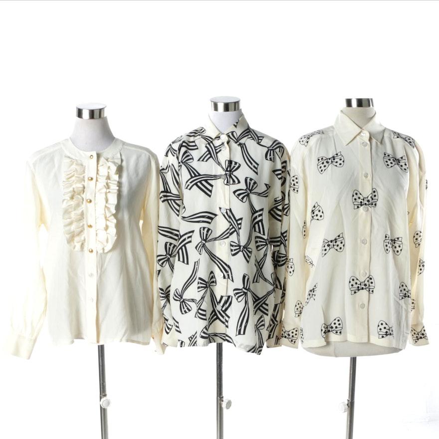 7764beee8b8798 Women s Escada Silk Button-Front Blouses   EBTH