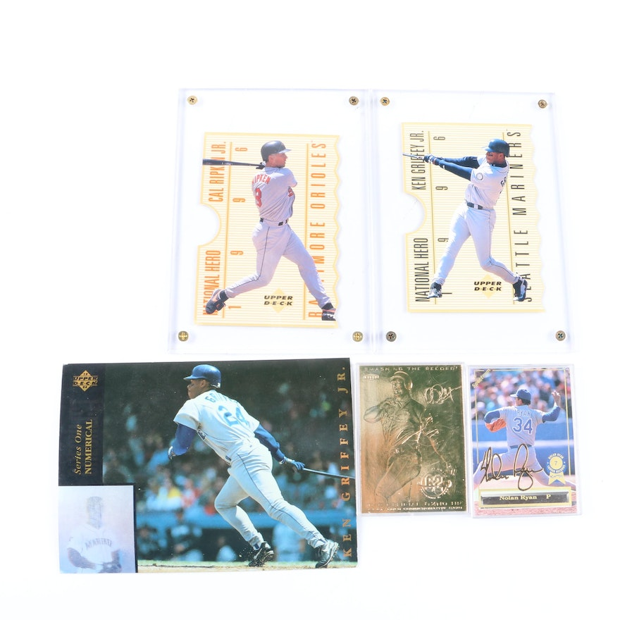 Nolan Ryan 24k Gold Signature Mark Mcgwire 24k And More Baseball Cards