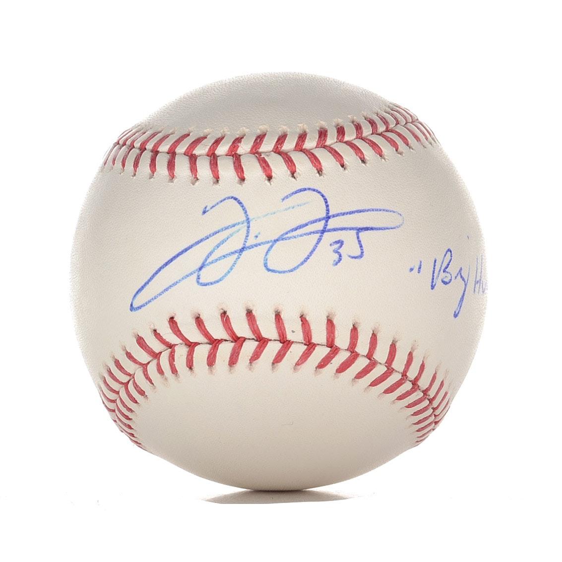 Frank Thomas Signed and Inscribed Baseball  COA