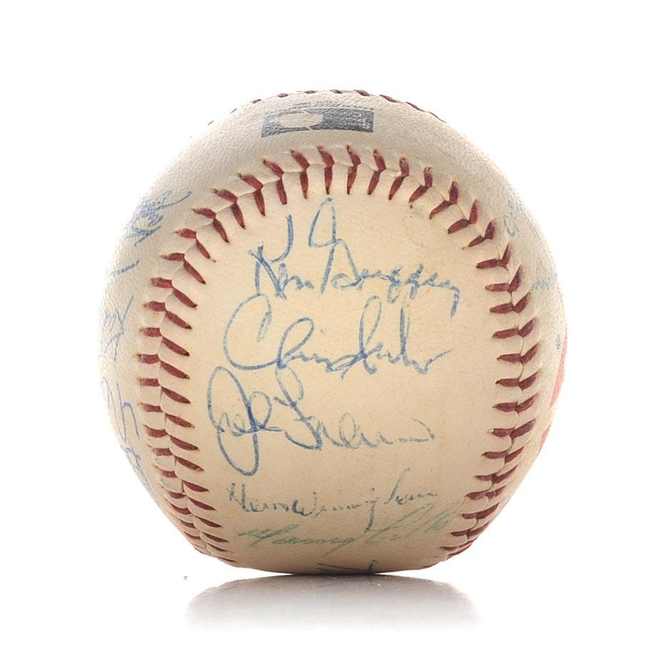 1989 Reds Signed Baseball