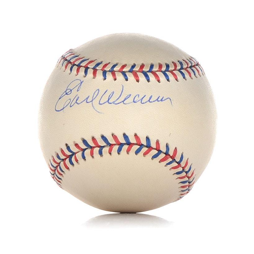 Earl Weaver Signed Baseball  COa