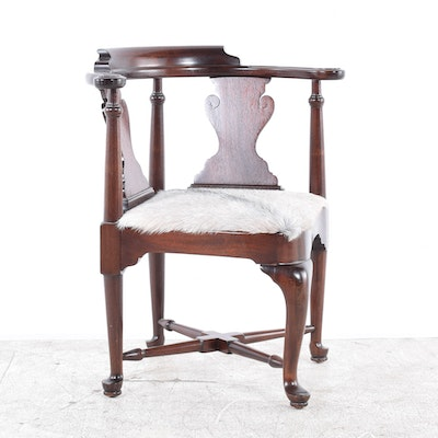 Vintage Chippendale Style Mahogany Corner Chair by Drexel - Vintage Chairs, Antique Chairs And Retro Chairs Auction In