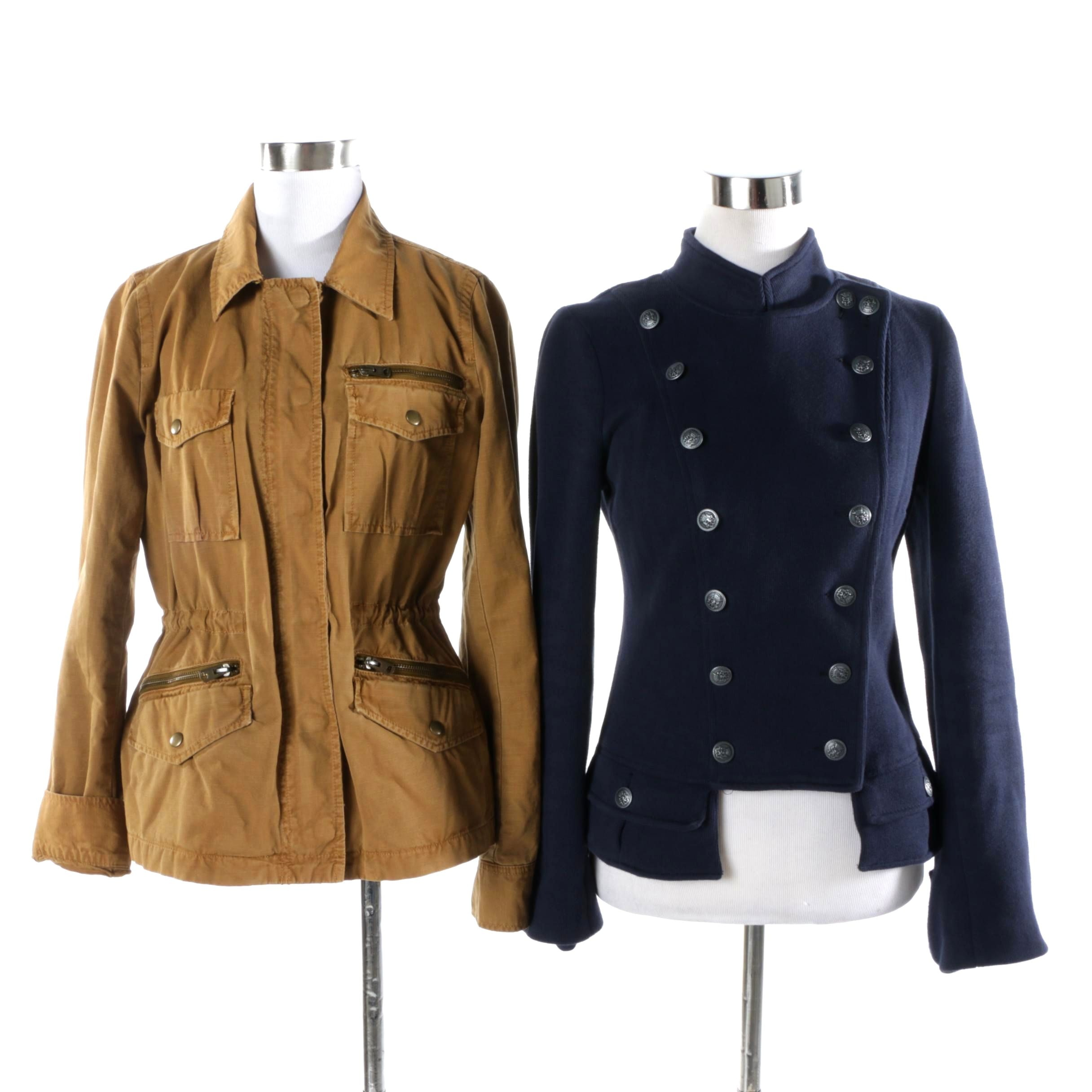 Free People Military Knit And J Crew Twill Chino Jackets Ebth