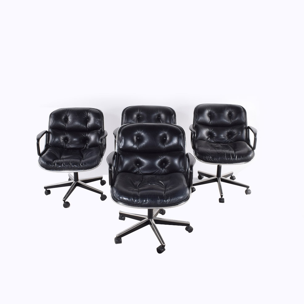 Four Executive Chairs Designed by Charles Pollock for Knoll
