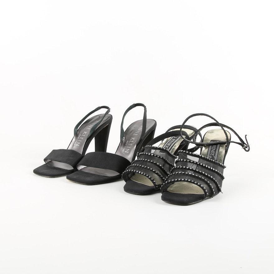 Anne Klein and J. Renee Black High-Heeled Sandals   EBTH 1d38a857d