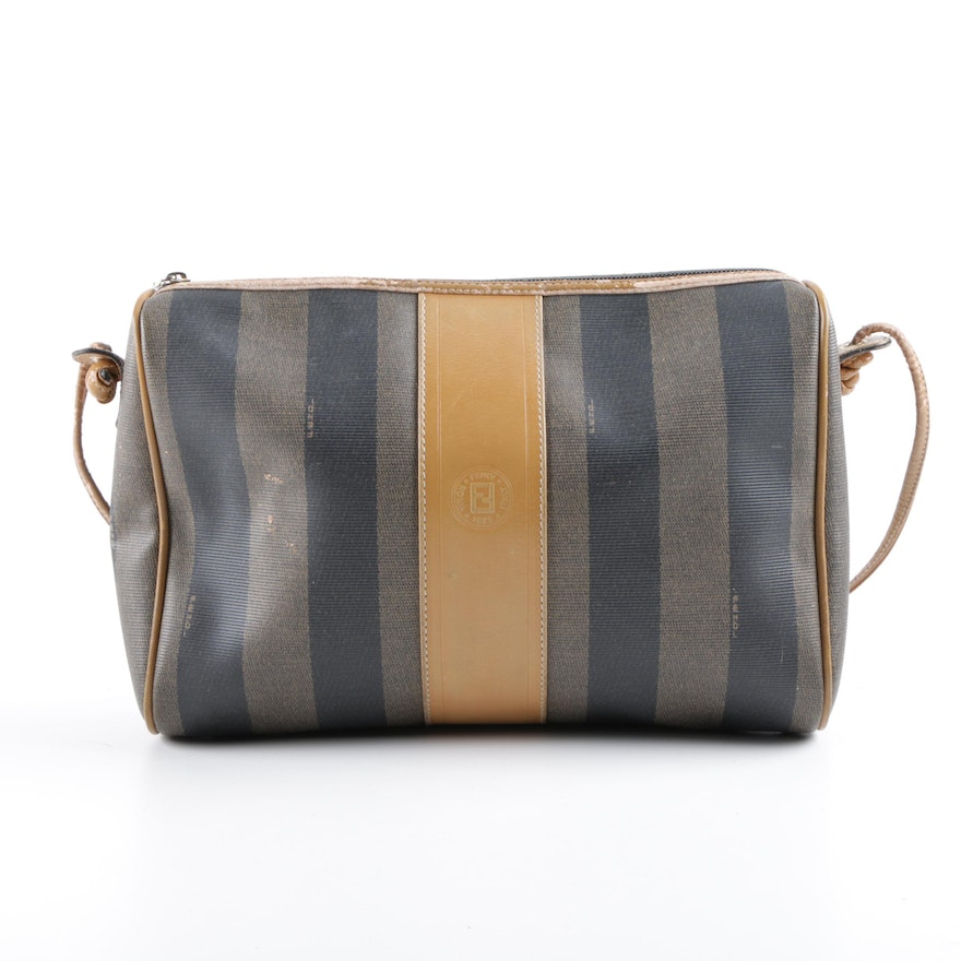 962e0d4571e7 Vintage Fendi Pequin Stripe Shoulder Bag   EBTH