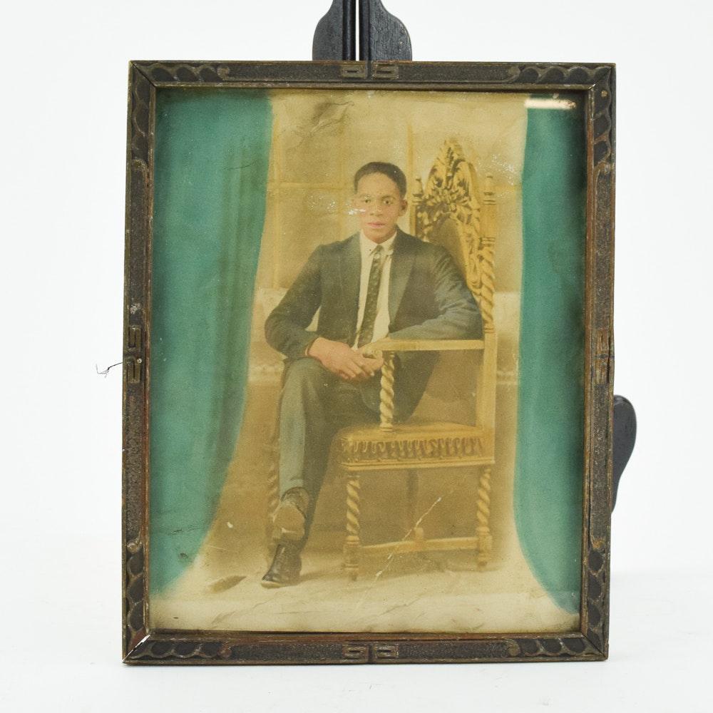 Vintage Hand Colored Photographic Portrait