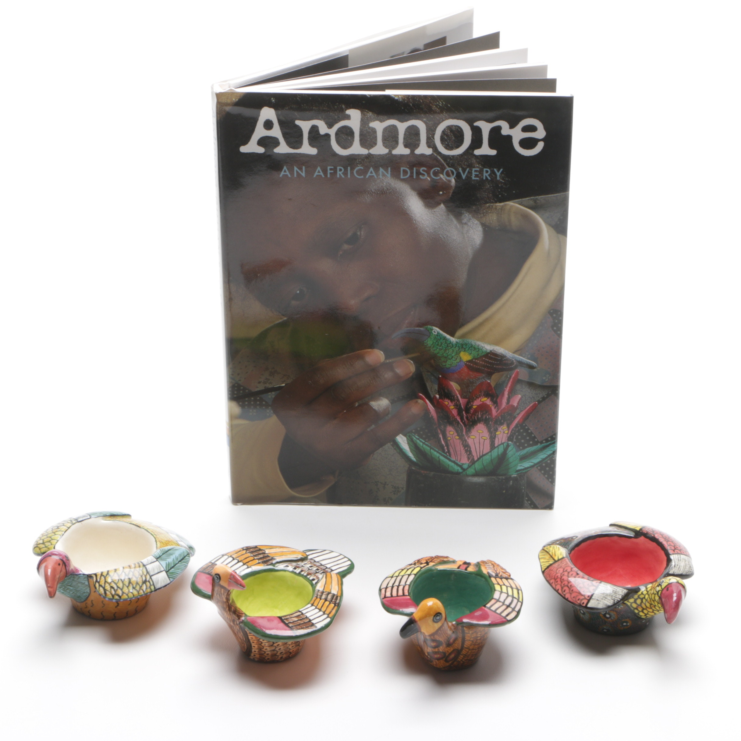 """Monica Ardmore Studios Hand-Painted Votive Candle Holders and """"Ardmore"""""""