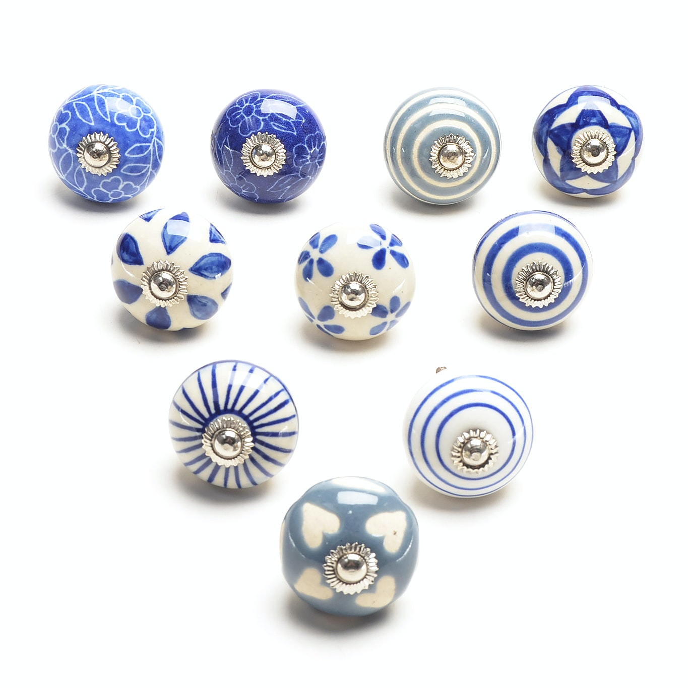Hand-painted Ceramic Cabinet Drawer Handles