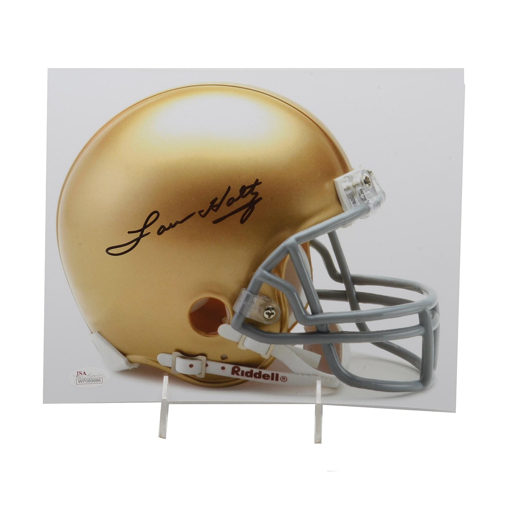 Lou Holtz Signed Notre Dame Photo  COA