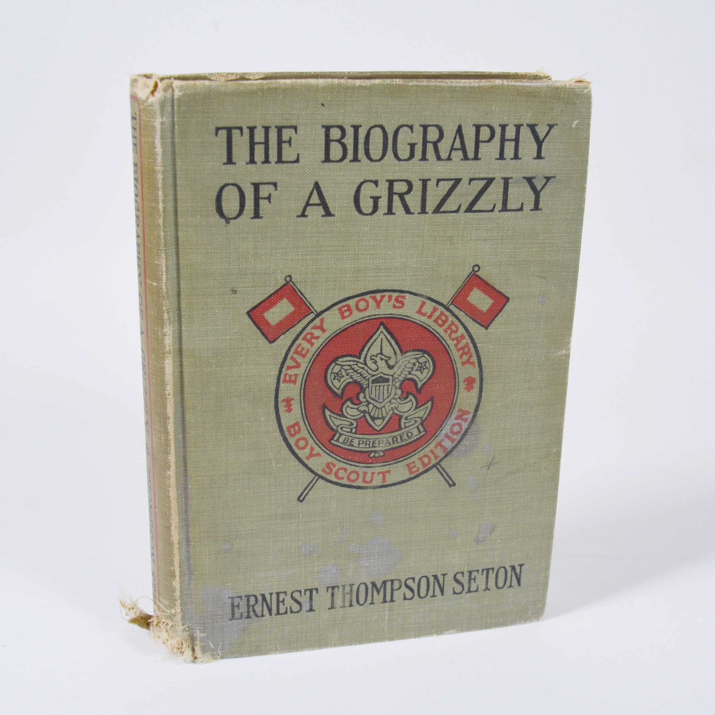 "Ernest Thompson Seton ""The Biography of a Grizzly"" Hardcover Book"