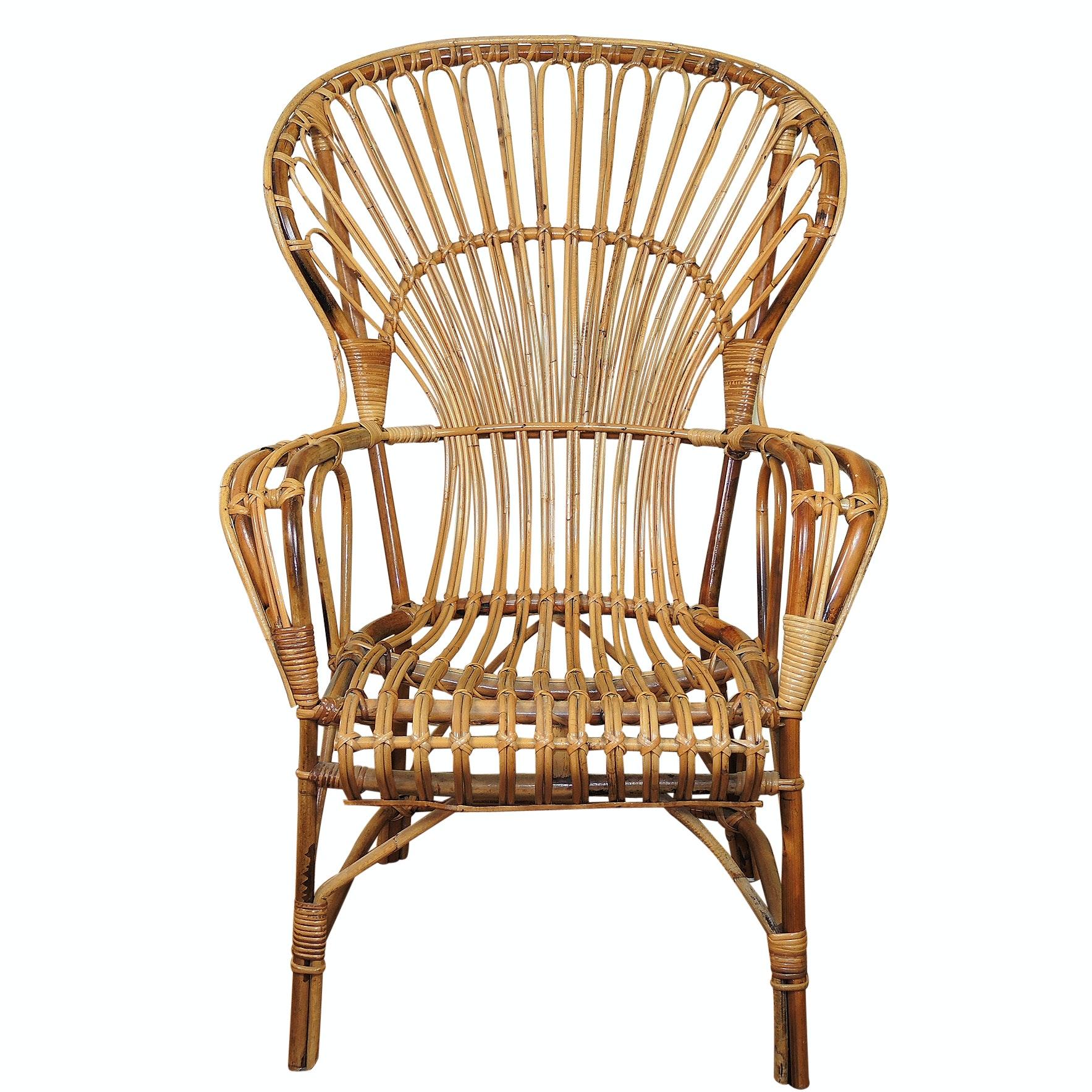 Rattan Bent Wood Fan Back Chair ...