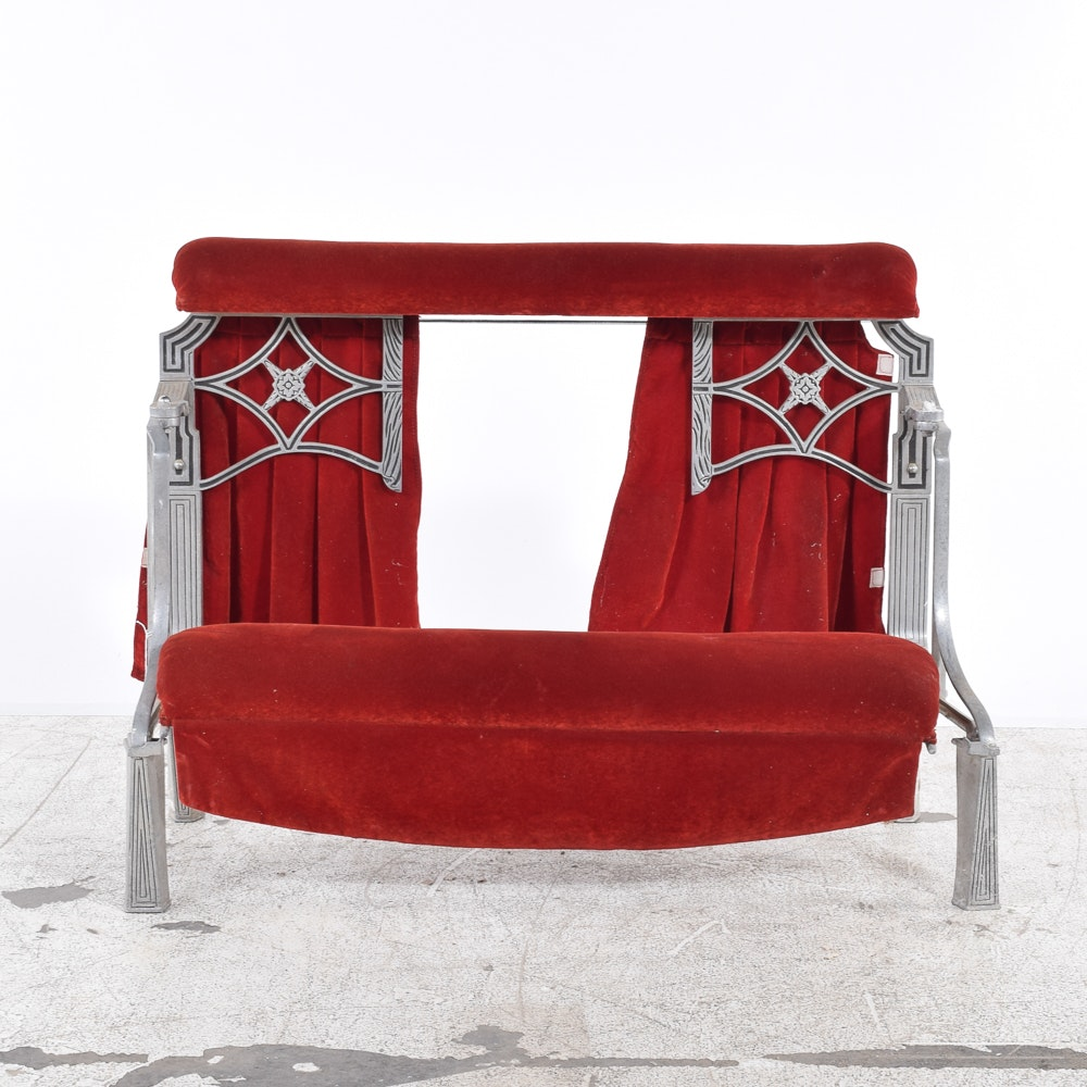 Vintage Art Deco Metal Prayer Bench