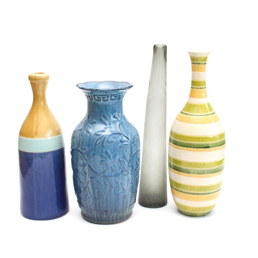Four Large Decorative Vases Ebth
