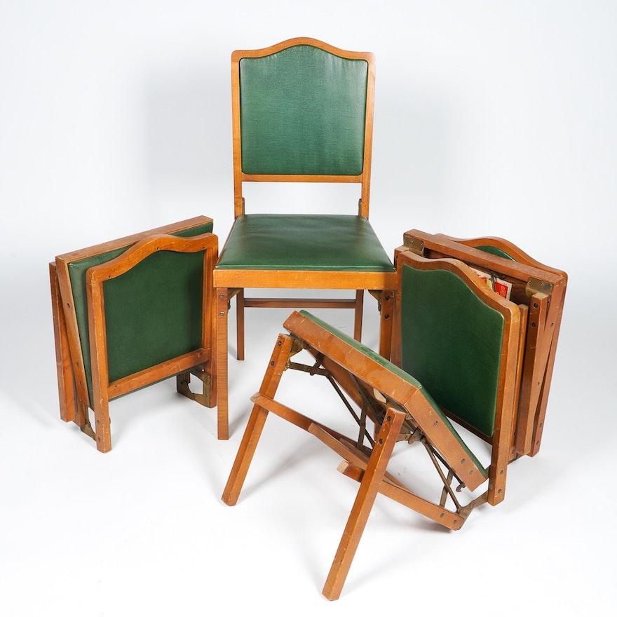 Excellent Vintage Leg O Matic Wooden Folding Chairs Inzonedesignstudio Interior Chair Design Inzonedesignstudiocom