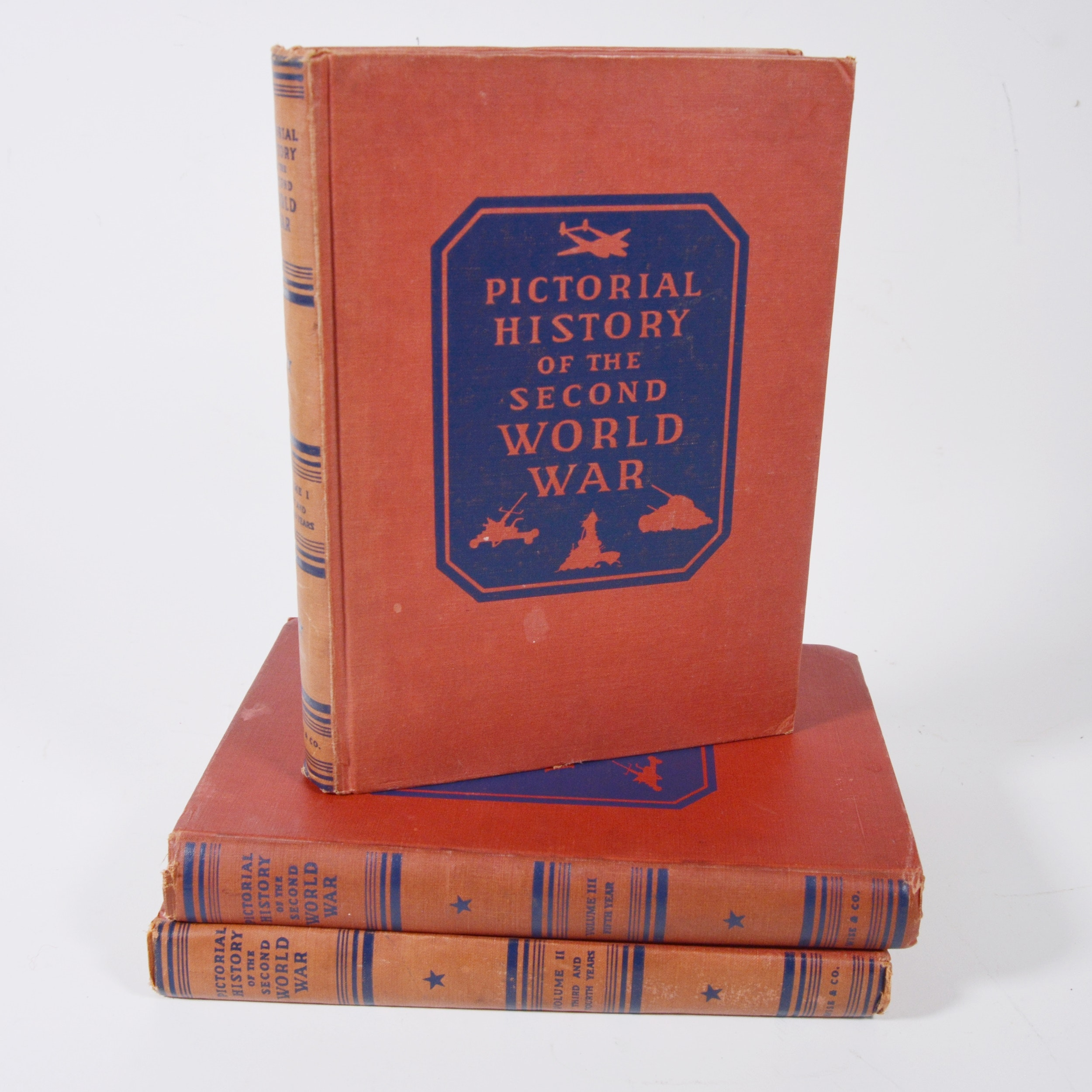 """Pictorial History of the Second World War"" Hardcover Book Set"