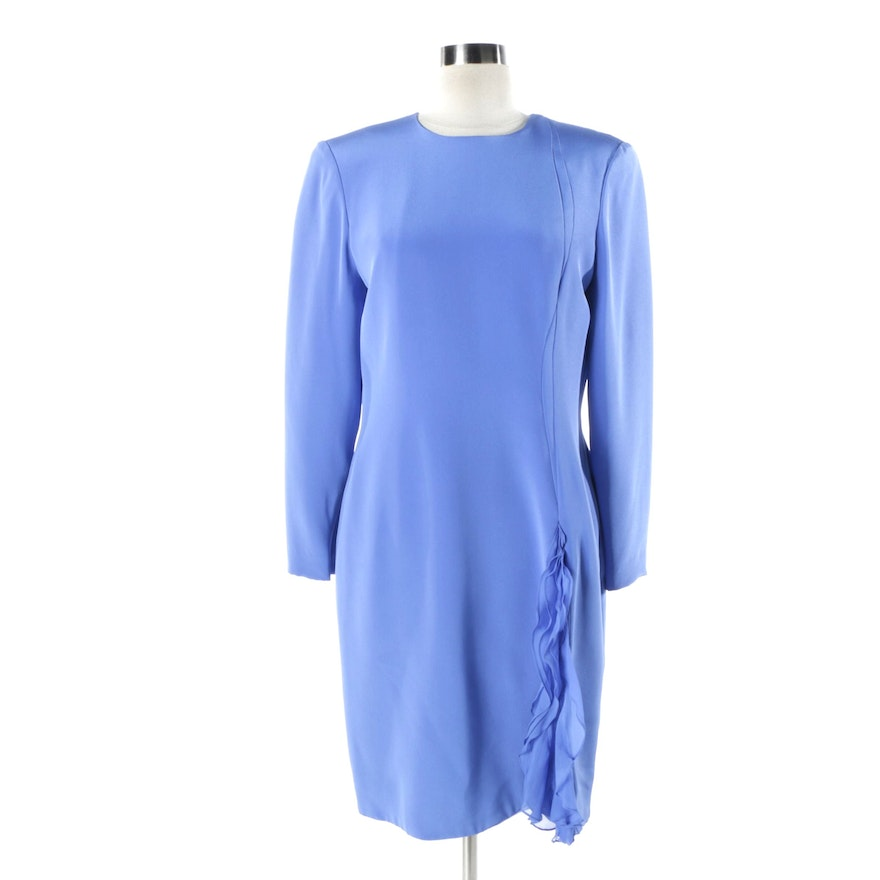 89dd933c1a4234 Carolina Herrera Blue Dress   EBTH