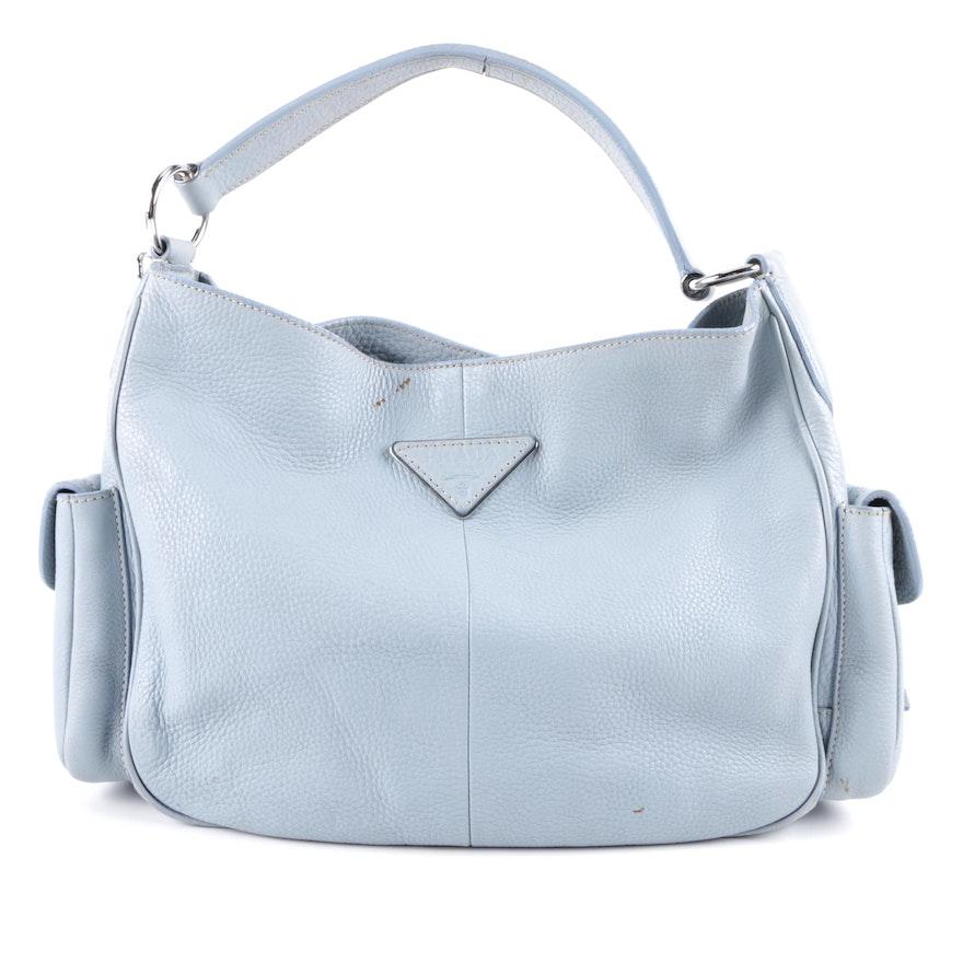 Prada Vitello Daino Blue Handbag   EBTH 91e53bab39b5e
