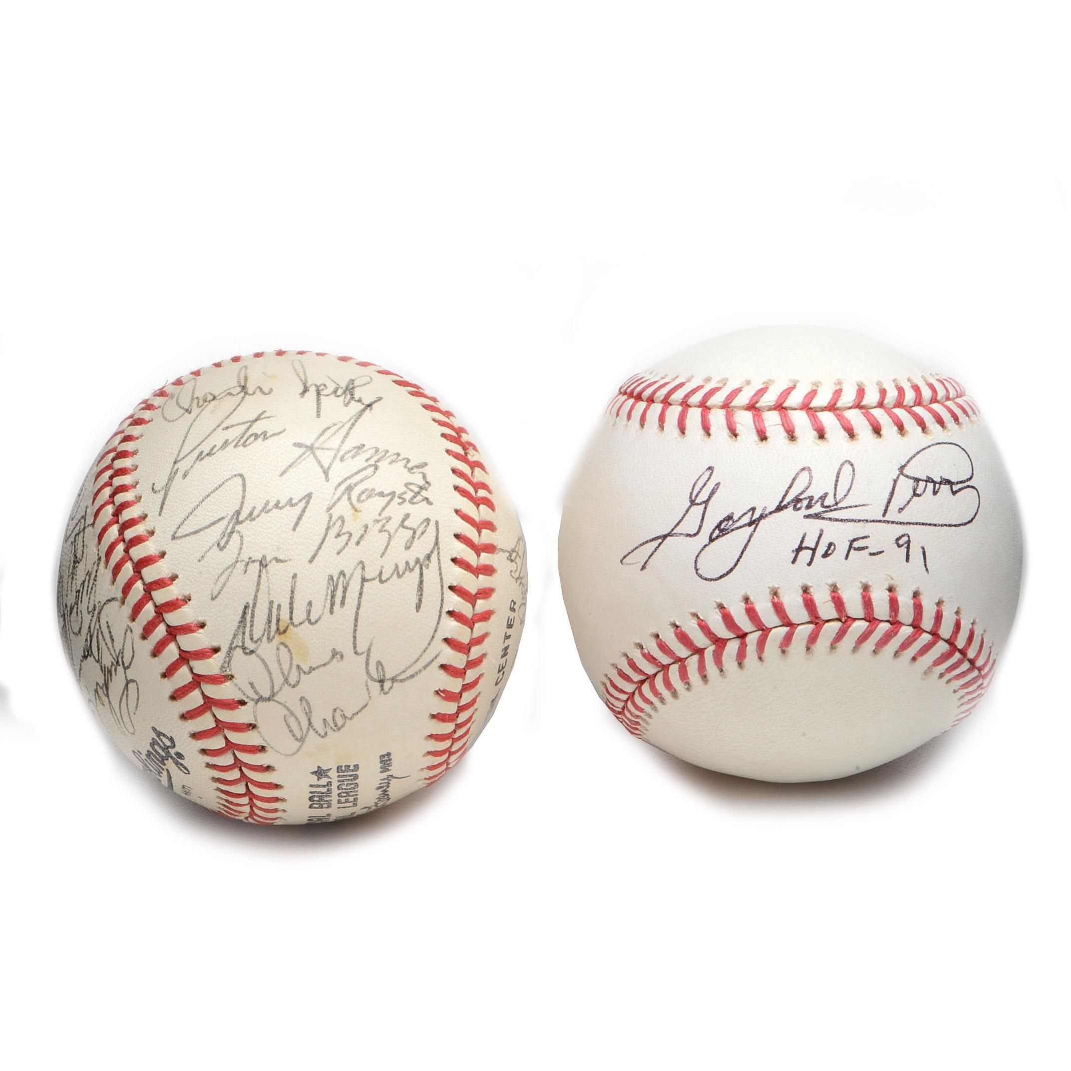 1980 Atlanta and Gaylord Perry Signed Baseballs