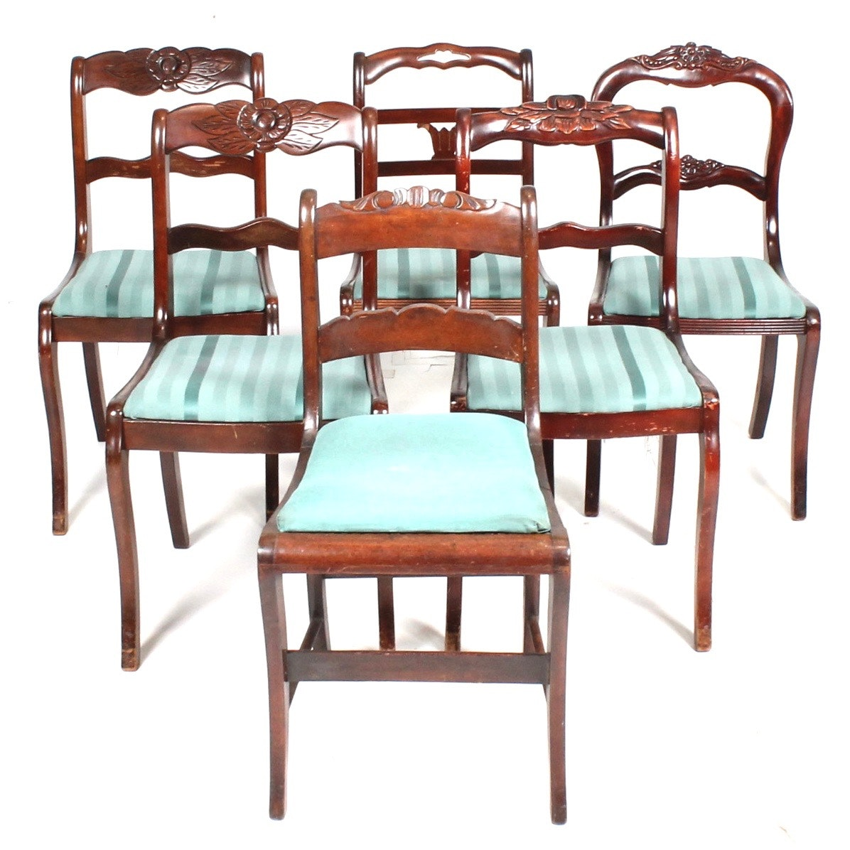 Six Vintage Mahogany Dining Chairs