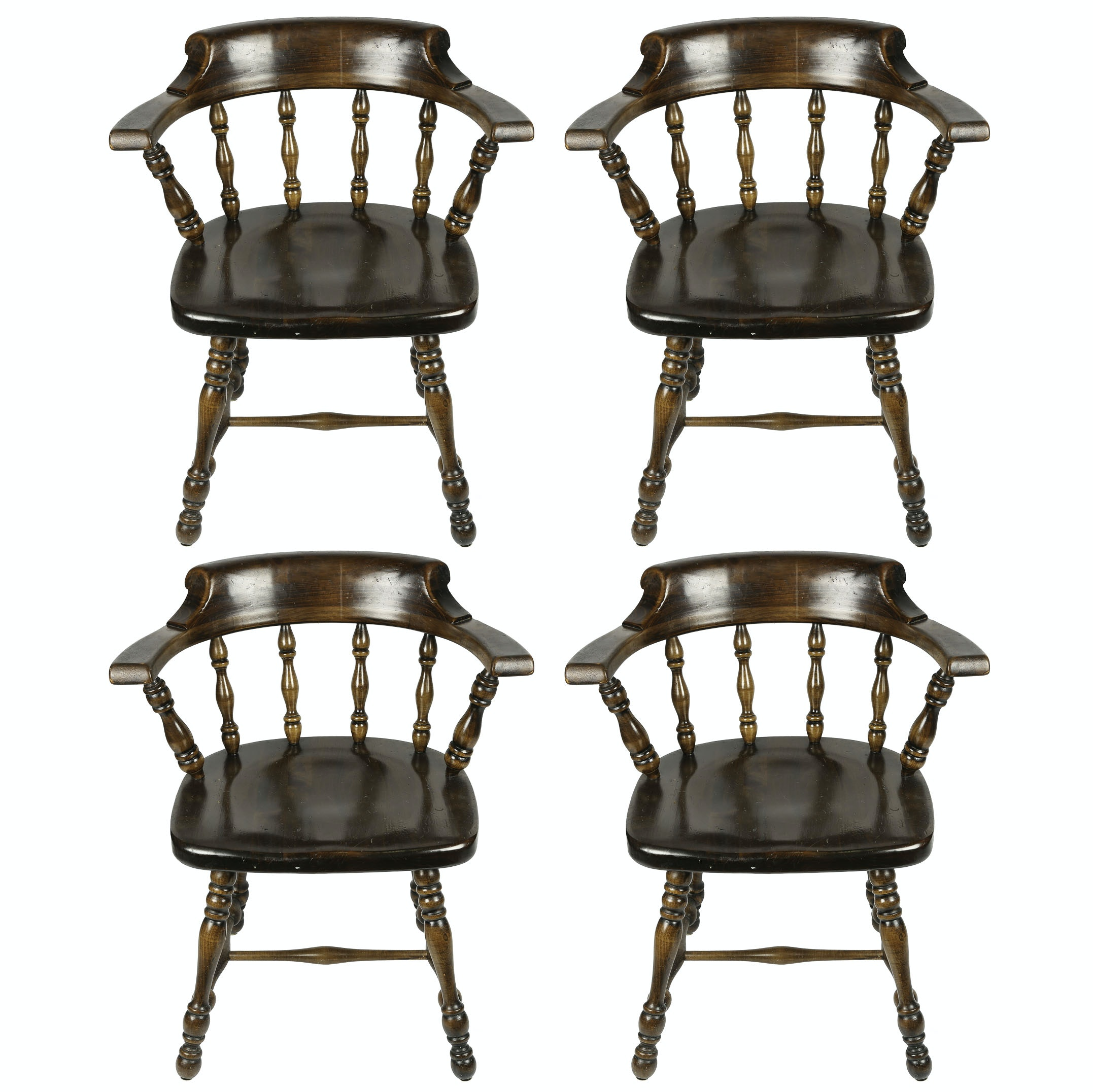 Vintage Colonial Revival Tavern Chairs By Ethan Allen ...
