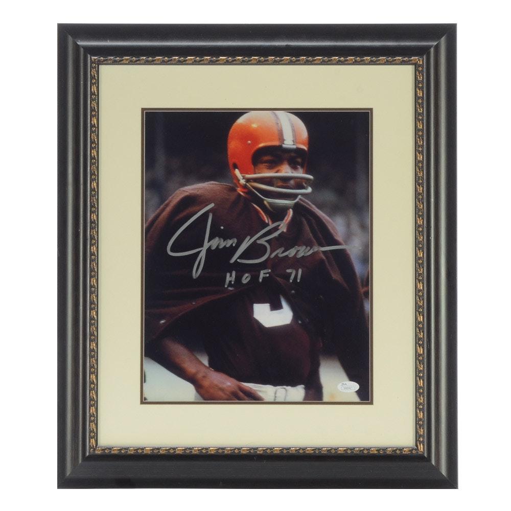 Jim Brown Signed Photo  COA