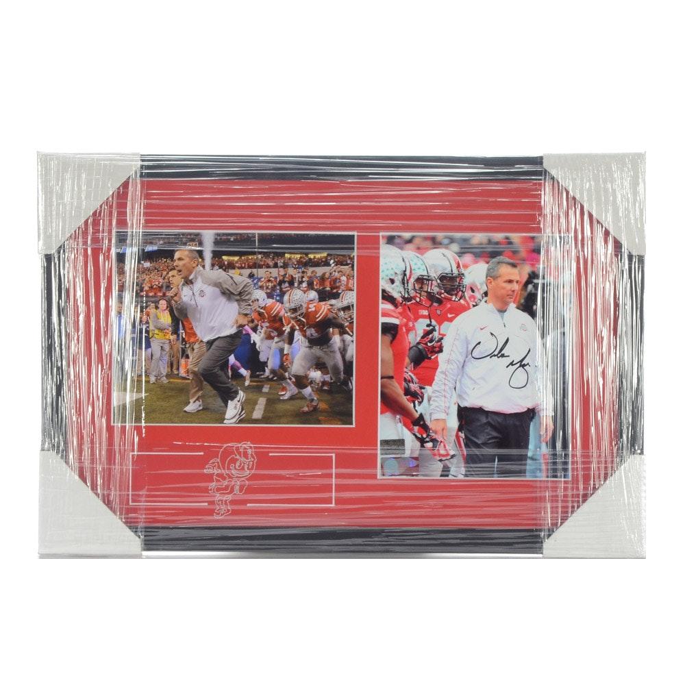 Urban Meyer Signed Ohio State Buckeyes Framed Football Display