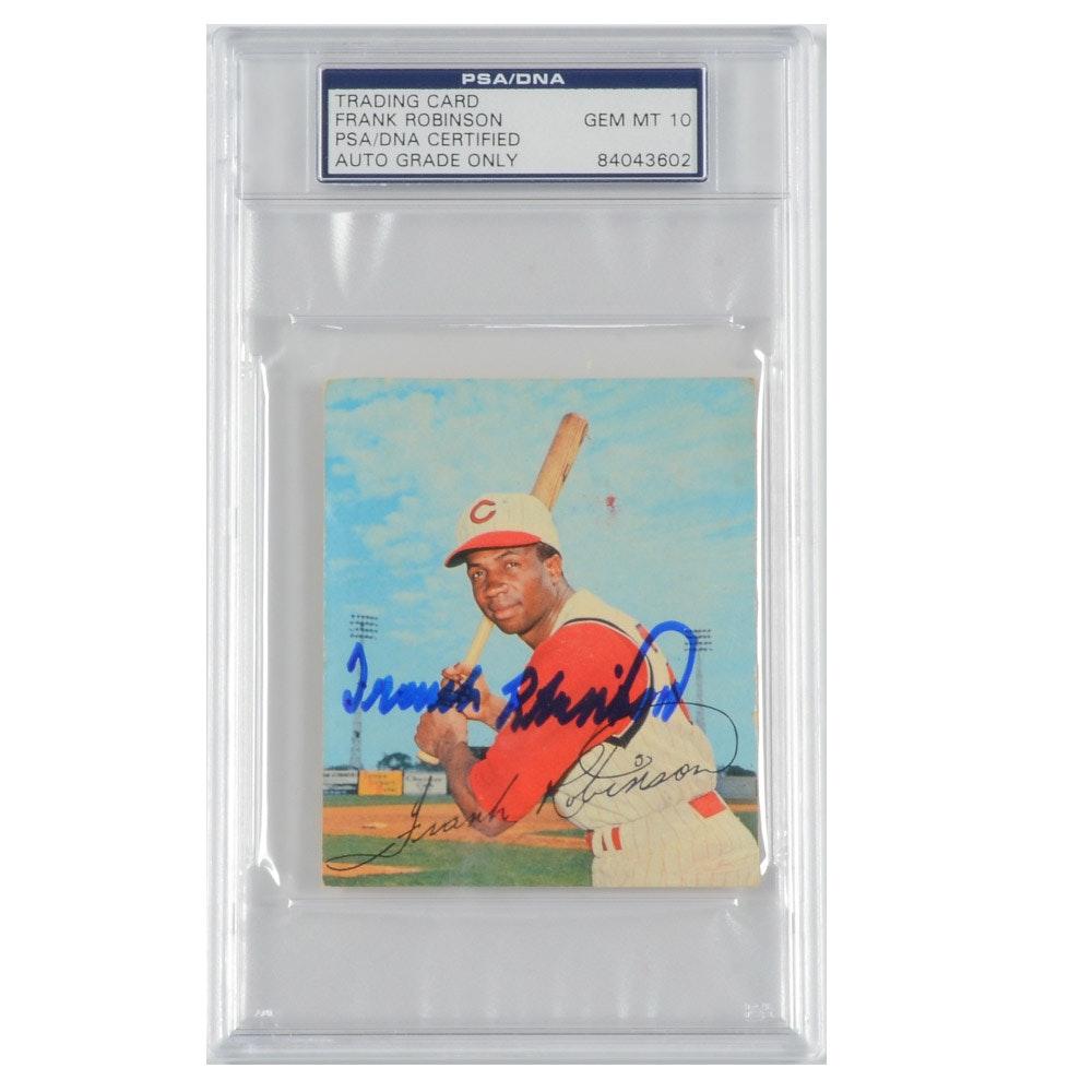 Frank Robinson Signed 1964 Kahn's Card  COA