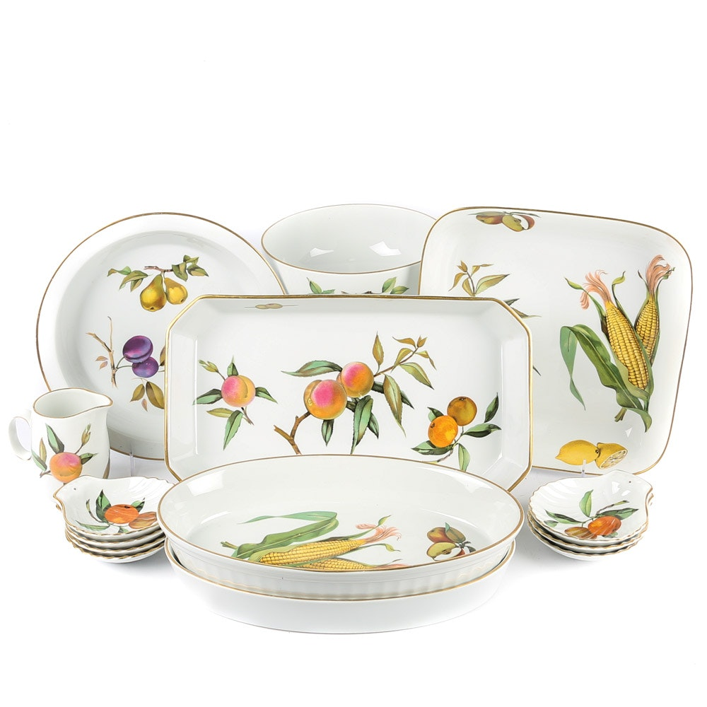 Royal Worcester  Evesham  Tableware and Bakeware ...  sc 1 st  EBTH.com & Royal Worcester