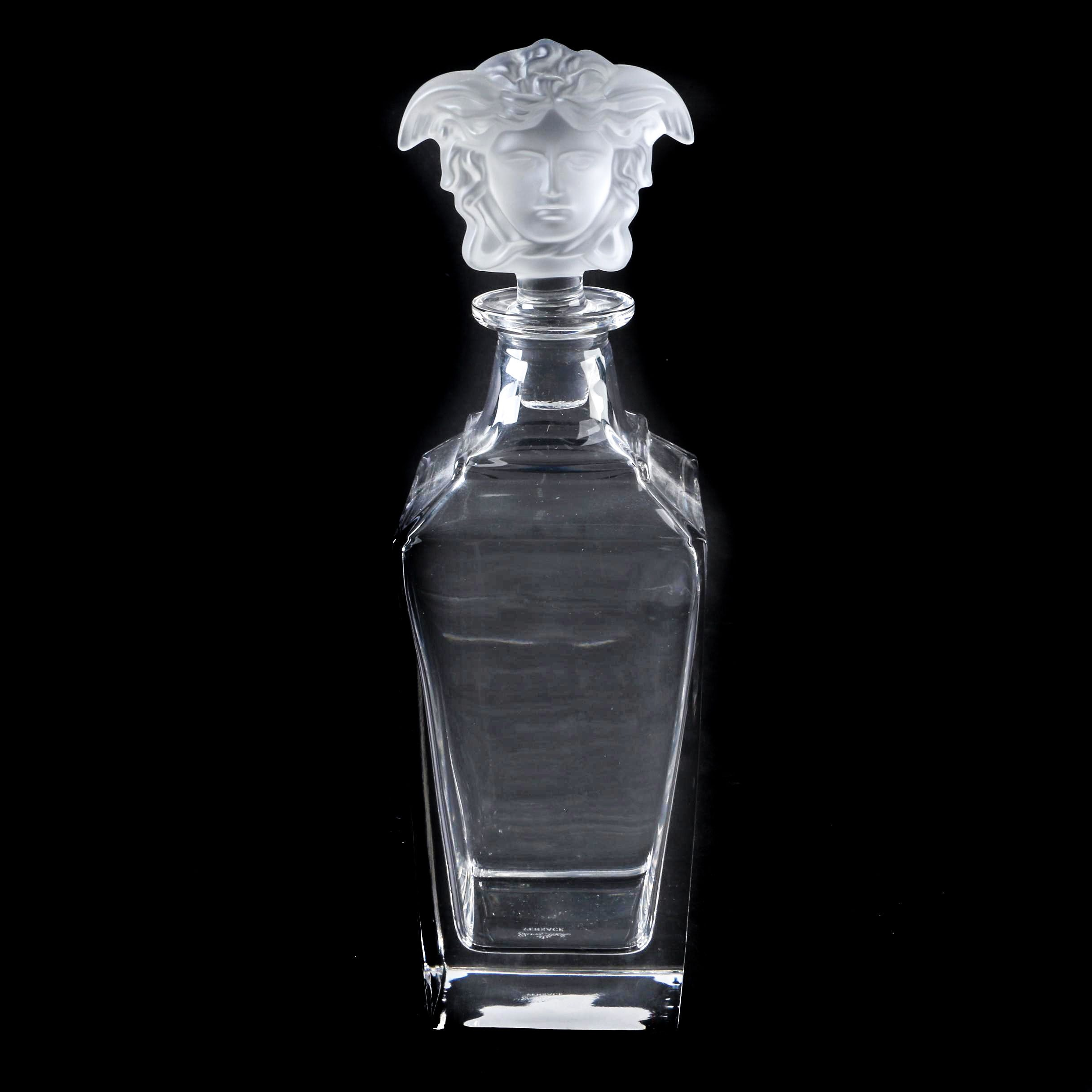 Versace By Rosenthal Glass Medusa Decanter