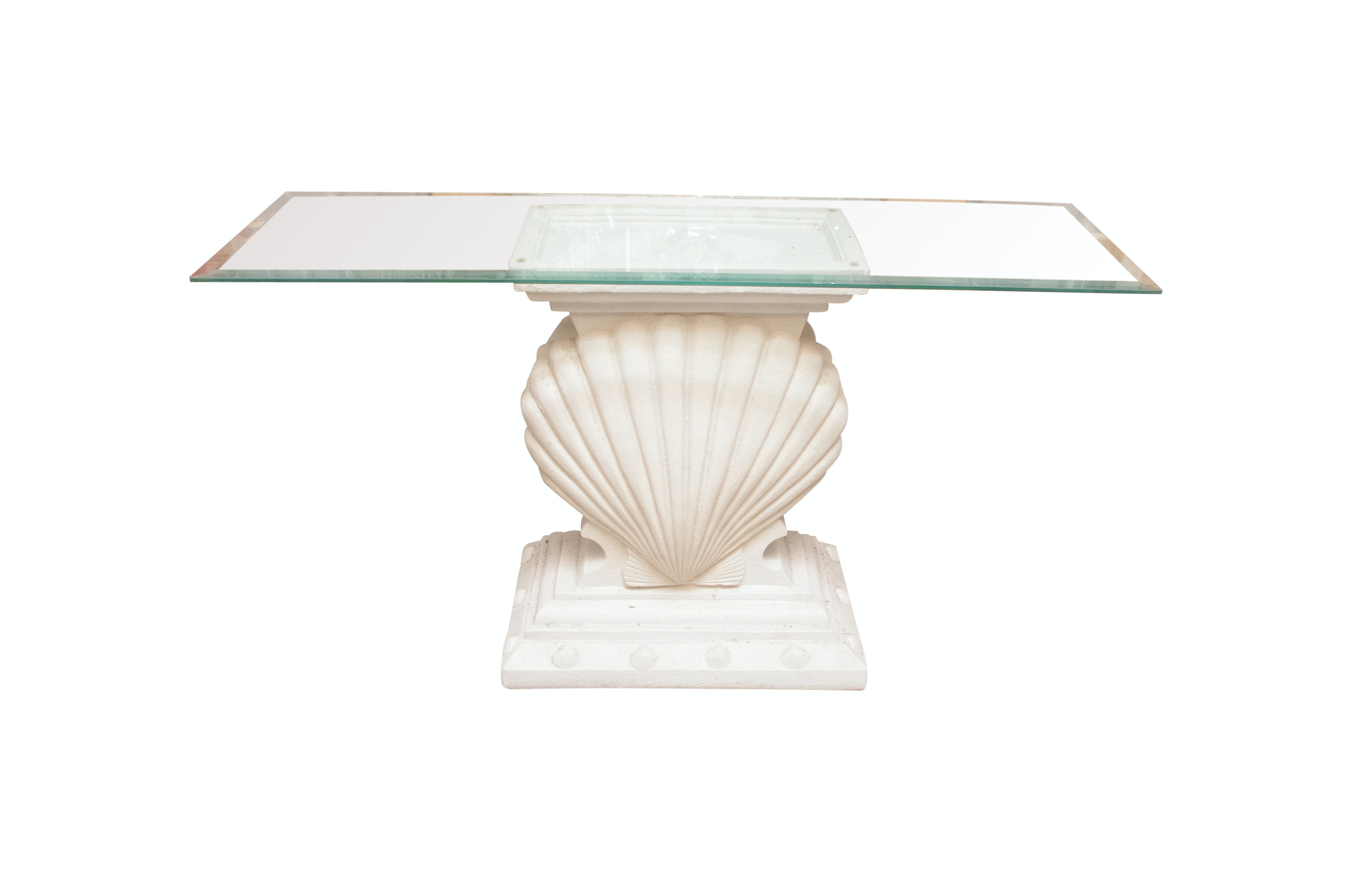 Carved Shell Console Table