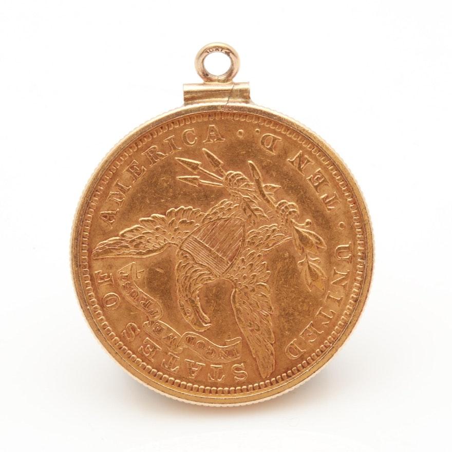 10k yellow gold sovereign pendant ebth 10k yellow gold sovereign pendant aloadofball Image collections