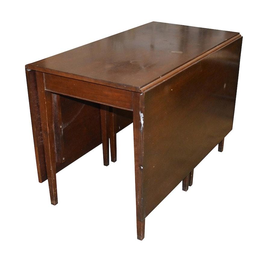 Vintage Solid Mahogany Drop Leaf Gate Leg Table