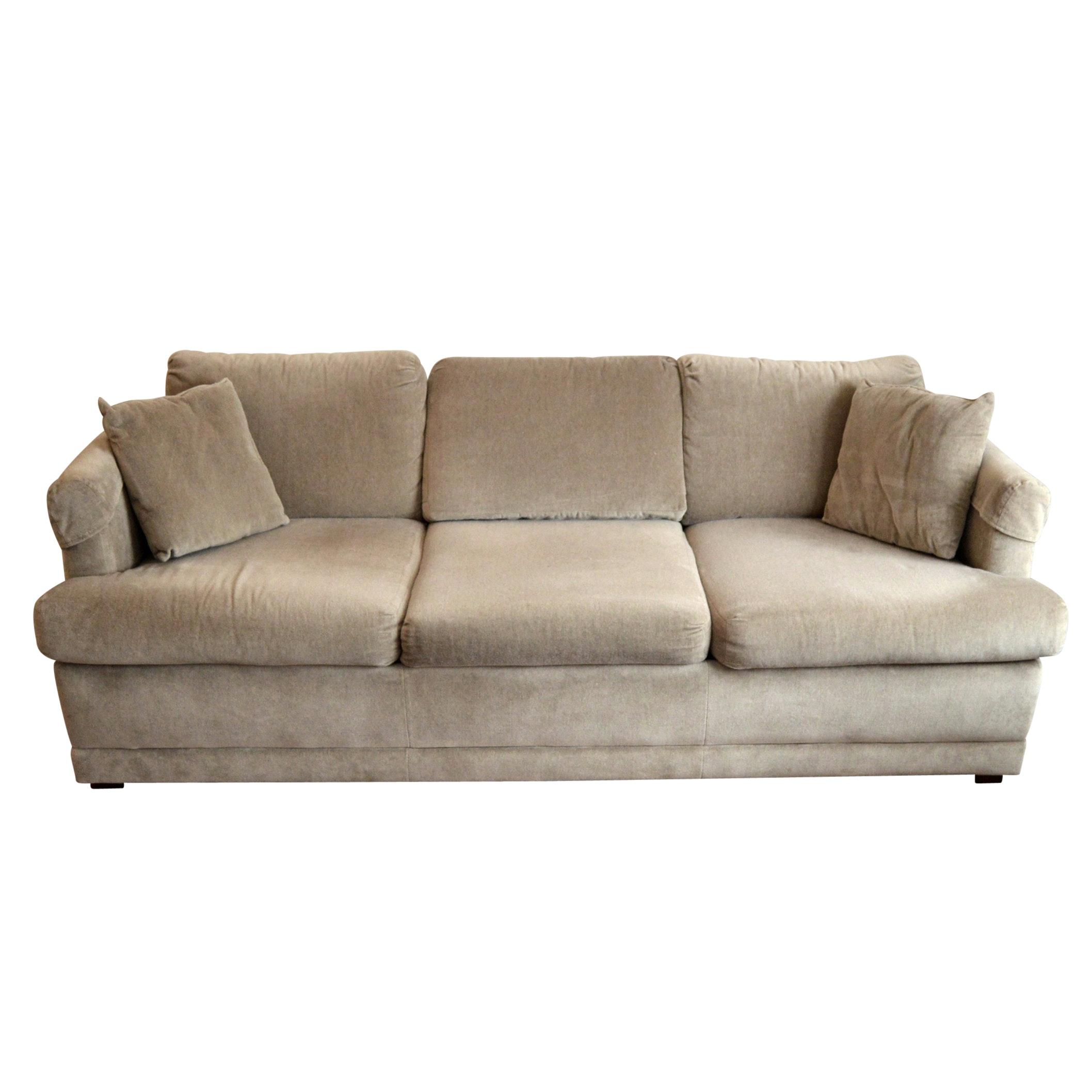 Mid Century Flex Steel Convertible Sofa ...