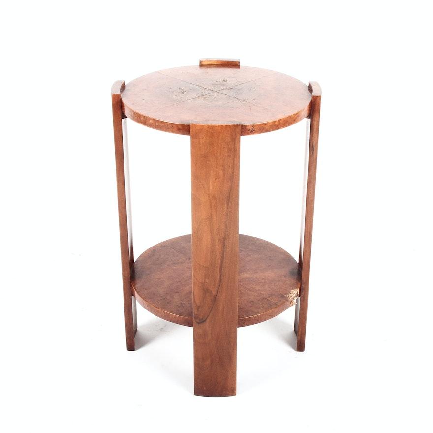 Burl Wood Side Table Ebth