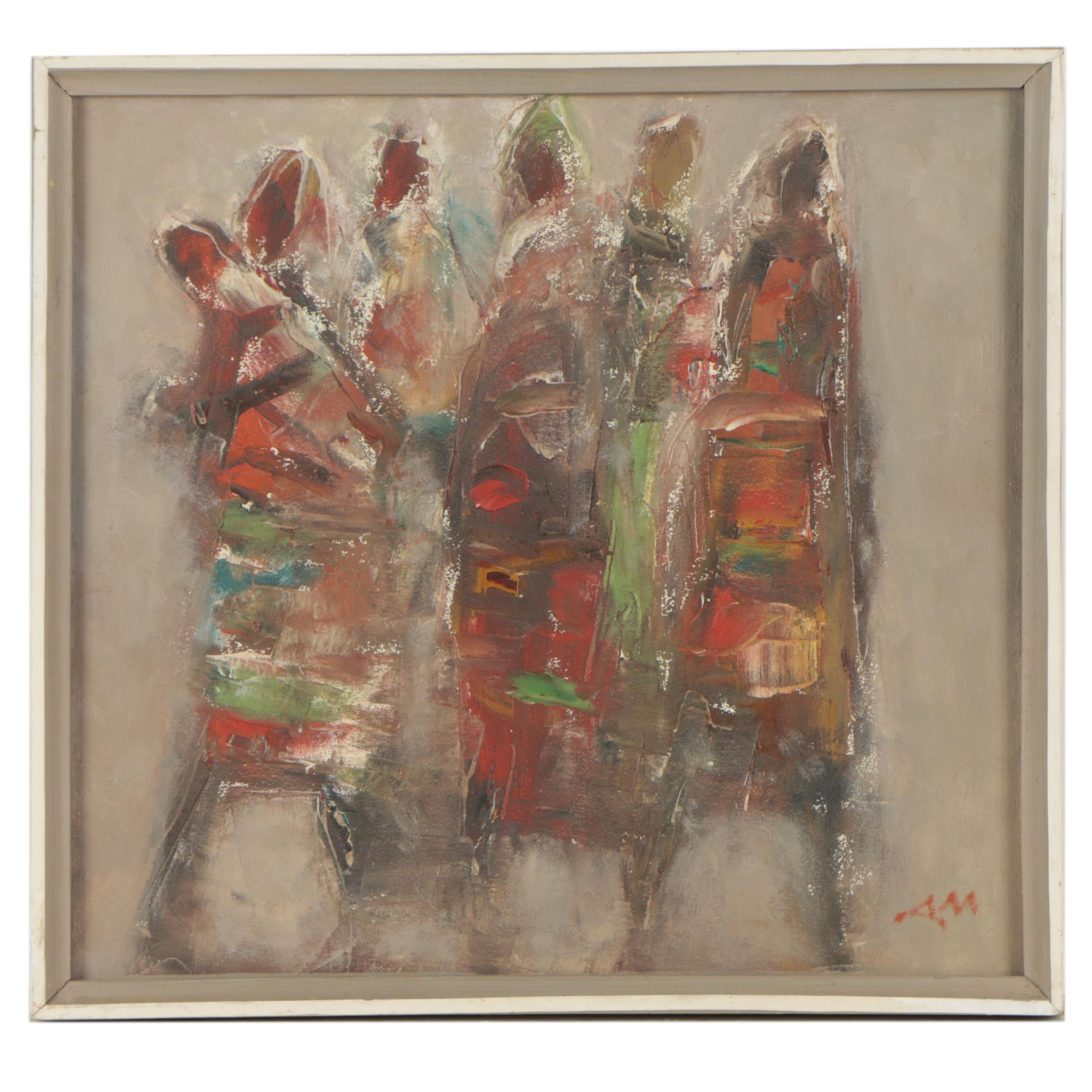 Abstract Oil Painting of Figures