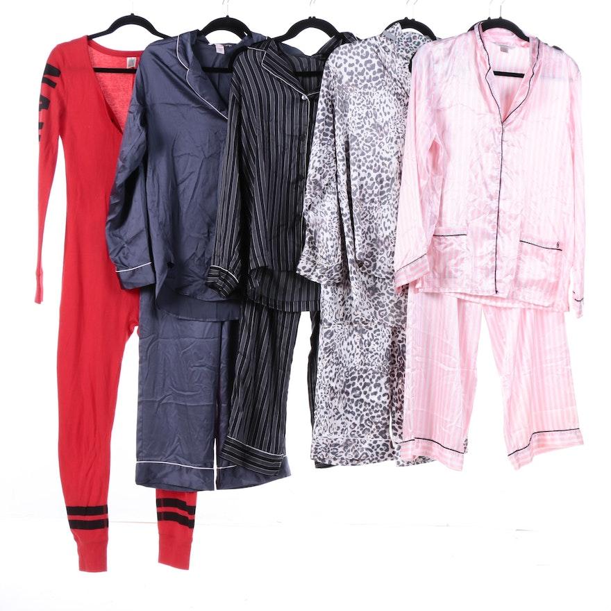 Victorias Secret Pajamas And Pink Onesie Ebth