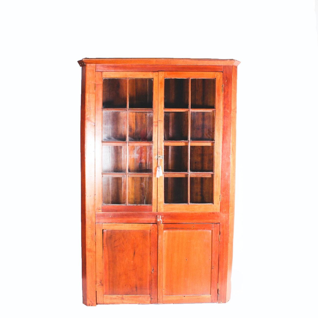 Antique Cherry Corner Cabinet ...