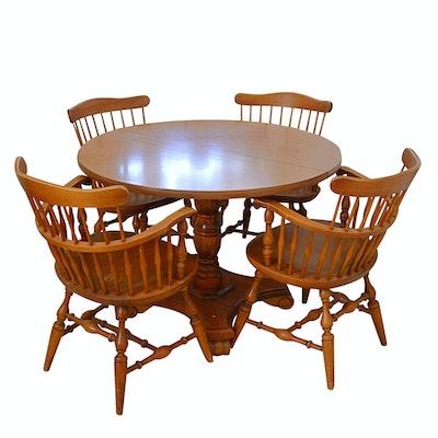 Vintage Nichols Stone Maple Dining Set