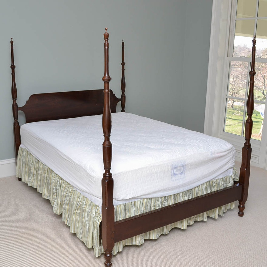 Federal Style Cherry Finish Queen Poster Bed Frame by Stickley : EBTH